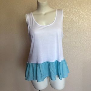 C&C California  Ruffle Tank Sleeveless Top XXL 2XL